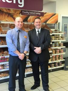 Meeting the manager at Sainsbury Dalkeith