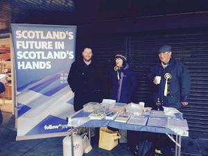 Scottish Independence referendum street stall