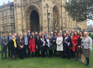 With Scottish WASPI women and fellow SNP MPs, Westminster, 15 November 2016