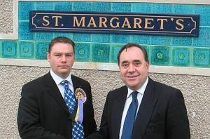 2005 Council By-Election campaigning with Alex Salmond