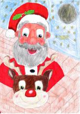 Lara Young's winning entry for the 2016 constituency Christmas card competition