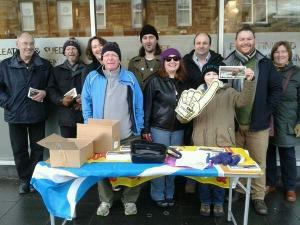 General Election street stall, Bonnyrigg, 10 February 2015