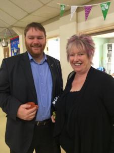 Macmillan coffee morning with Christine Grahame MSP, Gorebridge, 24 September 2016