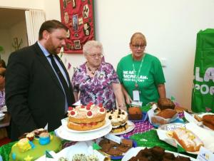 Judging the Volunteer Midlothian Macmillan coffee morning entries, 28 September 2016