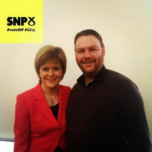 With Nicola Sturgeon, 15 February 2015