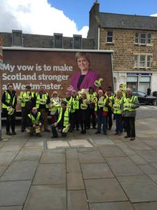 "The ""Nicola truck"" joins the campaign"