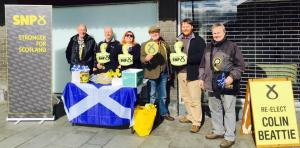 Scottish Parliament campaign street stall with Colin Beattie, 2016